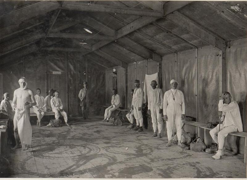 Feldspital Haidenschaft-Ankleideraum