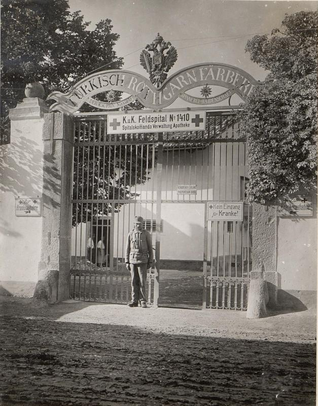 Eingang in das Feldspital Haidenschaft.