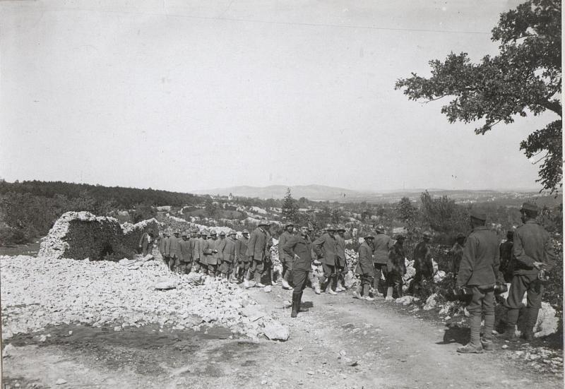Gef.Italiener a.d.XI.Isonzoschlacht.4.9.17.