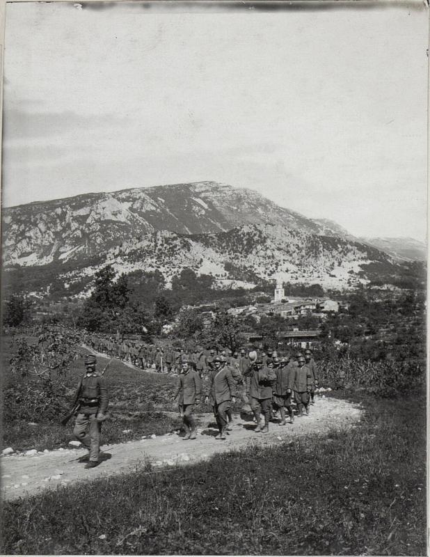 Kriegsgefangene Italiener a.d.XI.Isonzoschlacht.
