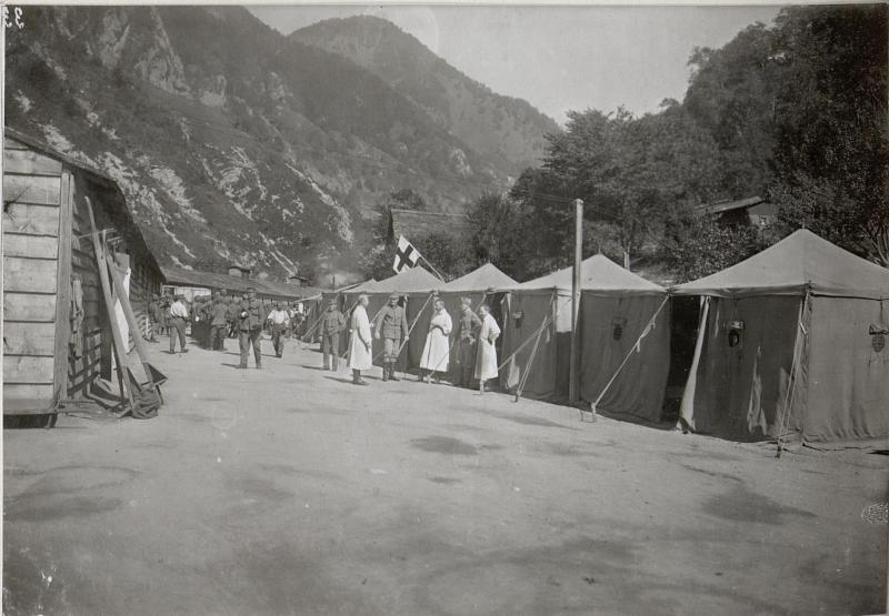 Zeltlager eines Feldspital a.d.Isonzofront.13.9.17.