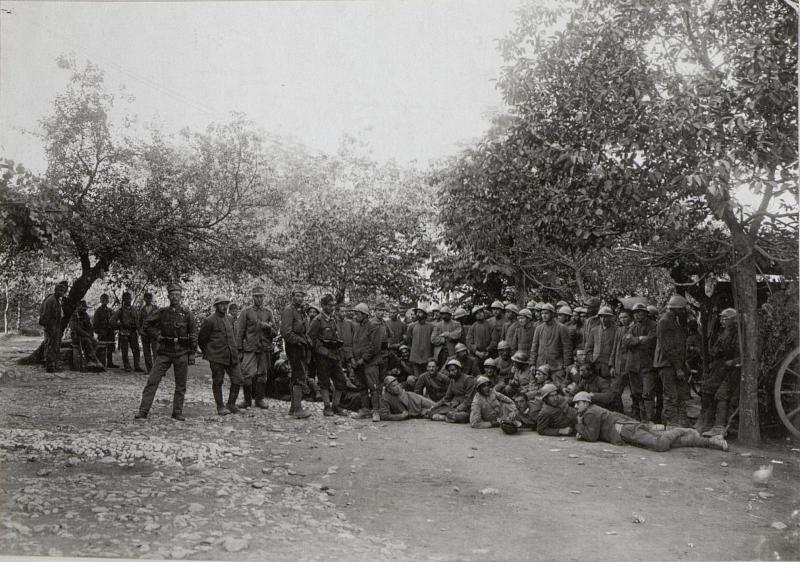 Gefangene Italiener a.d.XI.Isonzoschlacht.