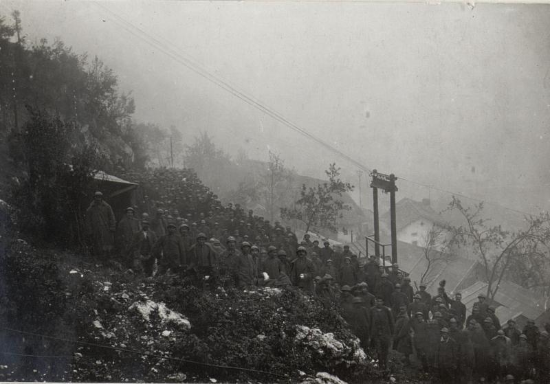 Ital.Gefangene aus der XII.Isonzoschlacht bei Tolmein