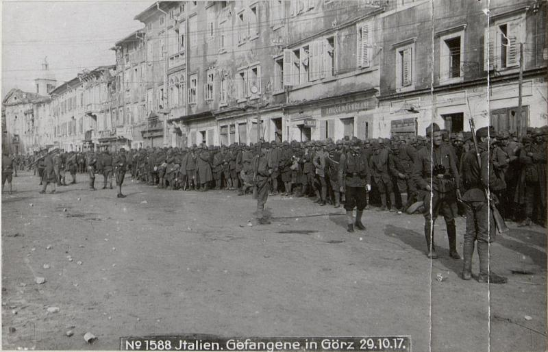 Italien.Gefangene in Görz 29.10.17.