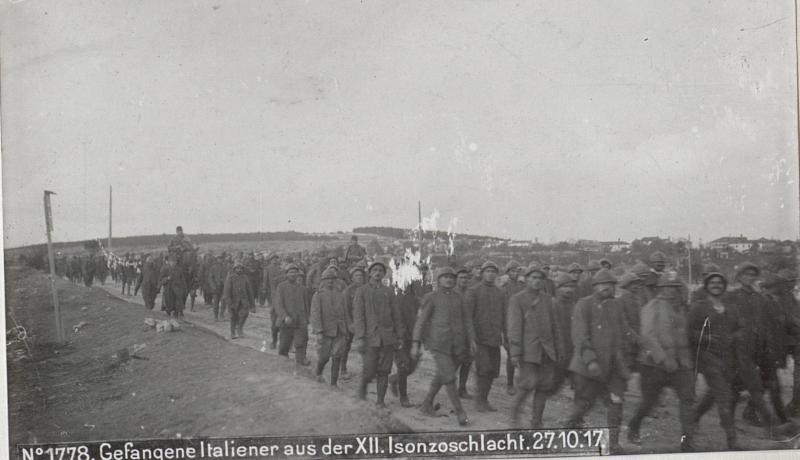 Gefangene Italiener aus der XII.Isonzoschlacht.27.10.17.