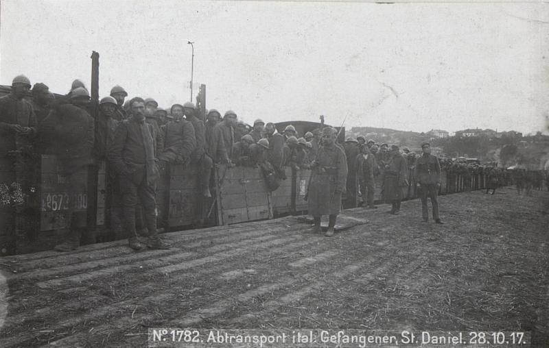 Abtransport ital.Gefangener, St.Daniel.28.10.17.
