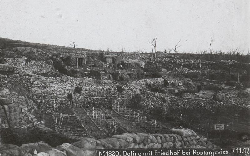 Doline mit Friedhof bei Kostanjevica.7.11.17.