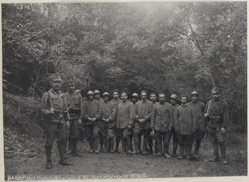 Ital.Gefangene aus d.XII.Isonzoschlacht 27.10.17.
