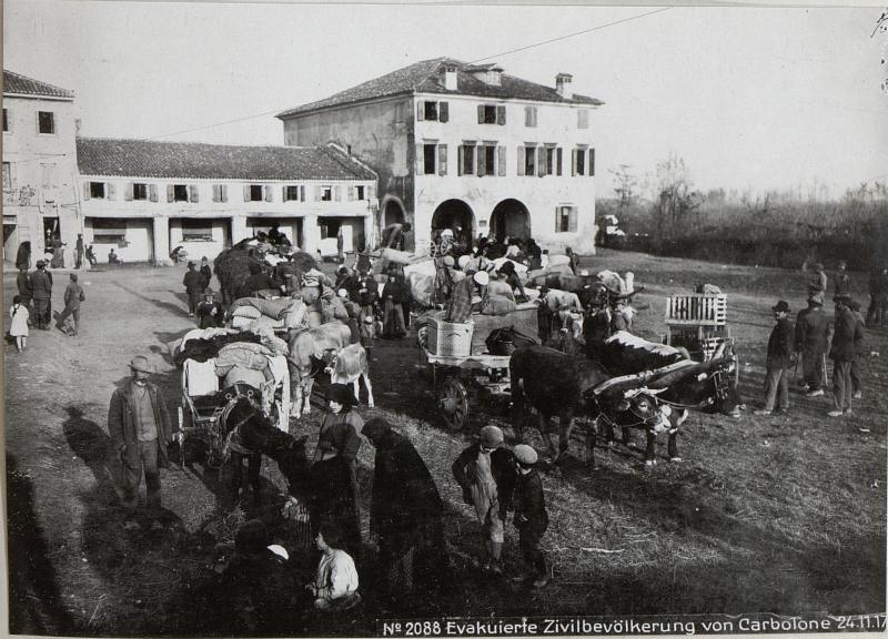 Evakuierte Zivilbevölkerung von Carbolone 24.11.17