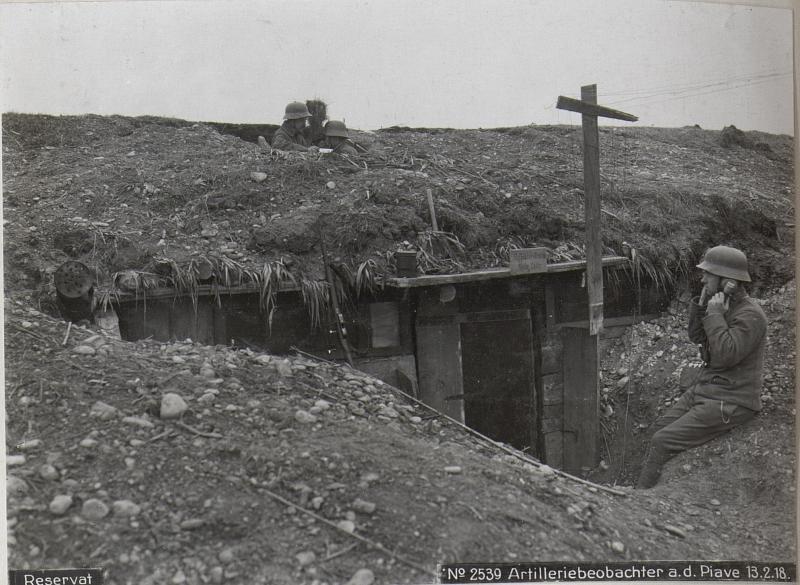 Artilleriebeobachter a.d. Piave 13.2.18.