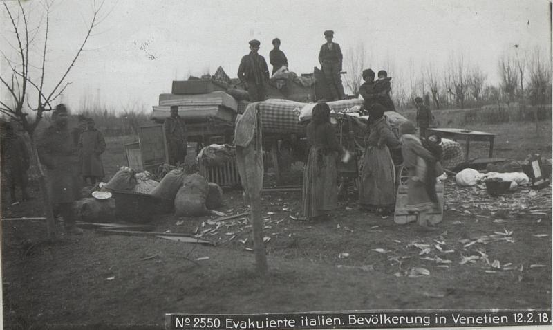 Evakuierte italien. Bevölkerung in Venetien 12.2.18.