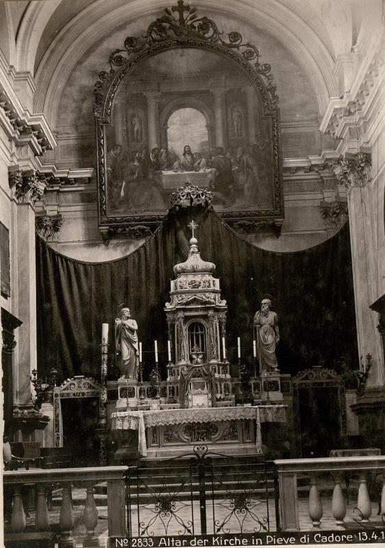 Altar der Kirche in Pieve di Cadore 13.4.18.