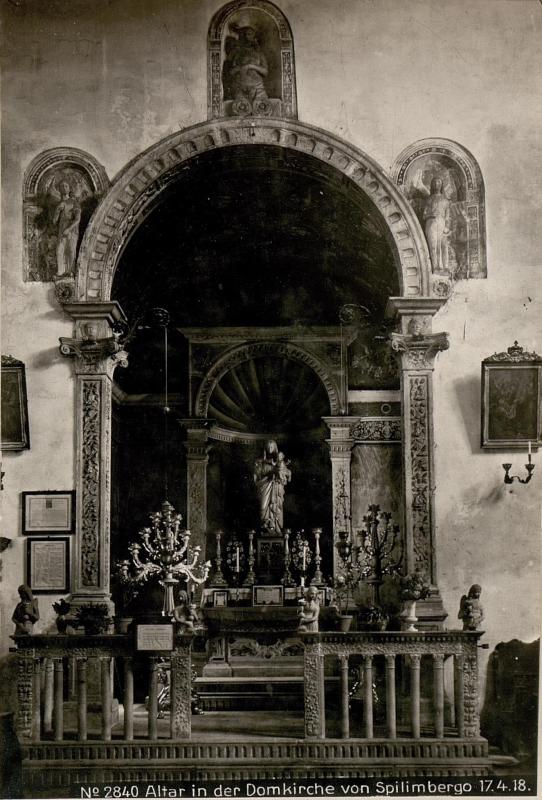 Altar in der Domkirche von Spilimbergo 17.4.18.
