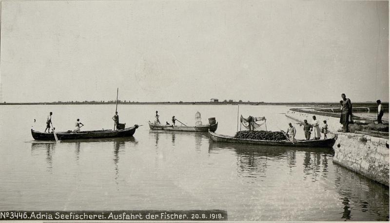 Adria Seefischerei. Ausfahrt der Fischer.