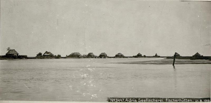 Adria Seefischerei. Fischerhütten.