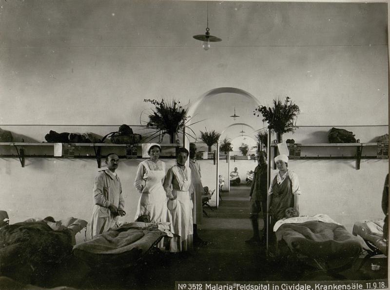 Malaria-Feldspital in Cividale, Krankensäle