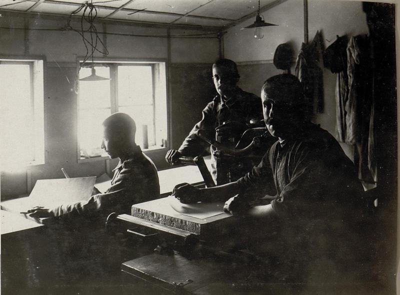 Druckerei des Artillerie-Messzuges 506