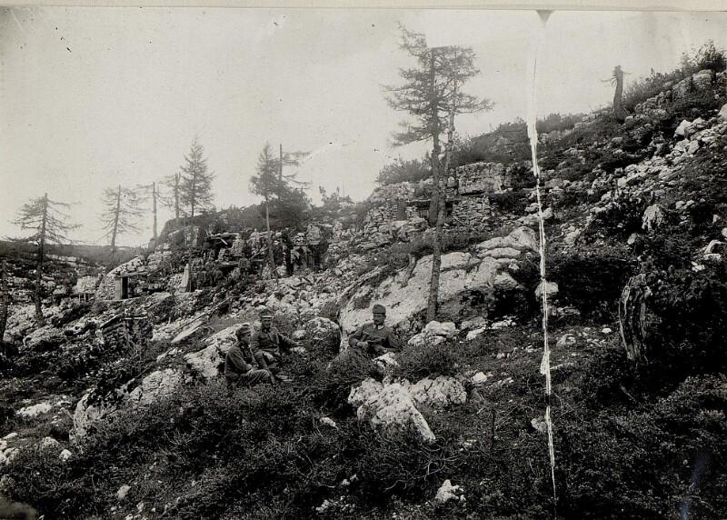 Bataillonskommando am Monte Forno