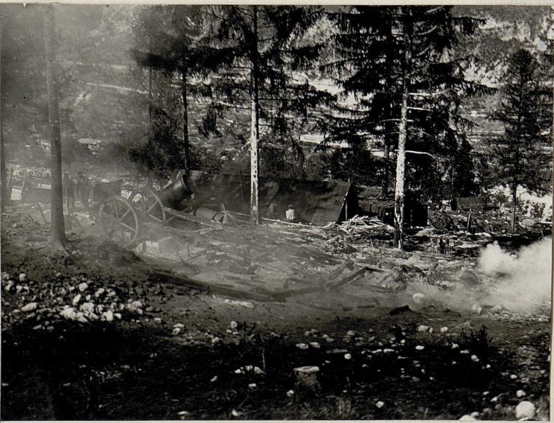 Brand der Säge in Geroli