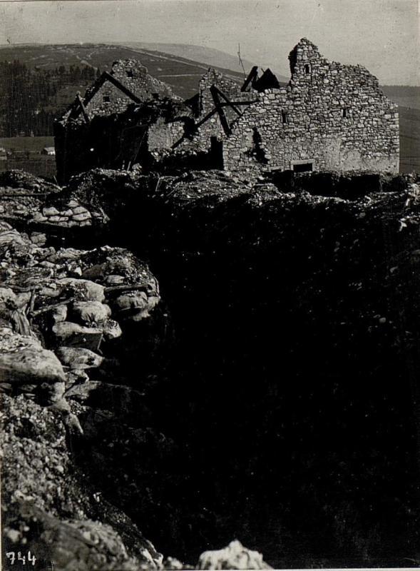 Am  10.9.1917 genommene italienische Stellung bei Benscar.
