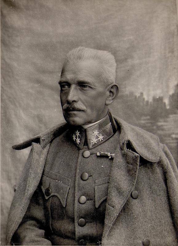 Trient: Exzellenz von Martiny. Kommandant des XIV.Korps.