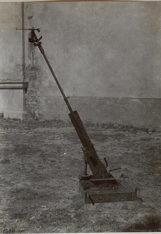 Barco. Österreichischer Infanterie-Grabenmörser, aktionsbereit.
