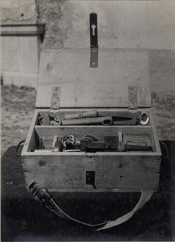 Barco. Österreichischer Infanterie-Grabenmörser.Geräte.27/8.1918.