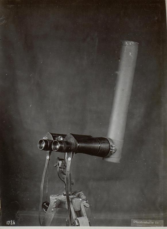 Cavalese.7faches in Strichplatte komplt.Doppelfernrohr mit aufgesetztem F.M. 15.7faches Doppelfernrohr, Winkelspiegelrohr.