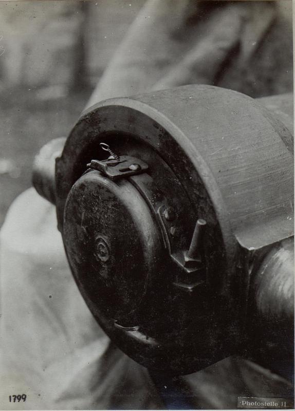 Brandklappe angebracht am 22cm M.W.M.15.