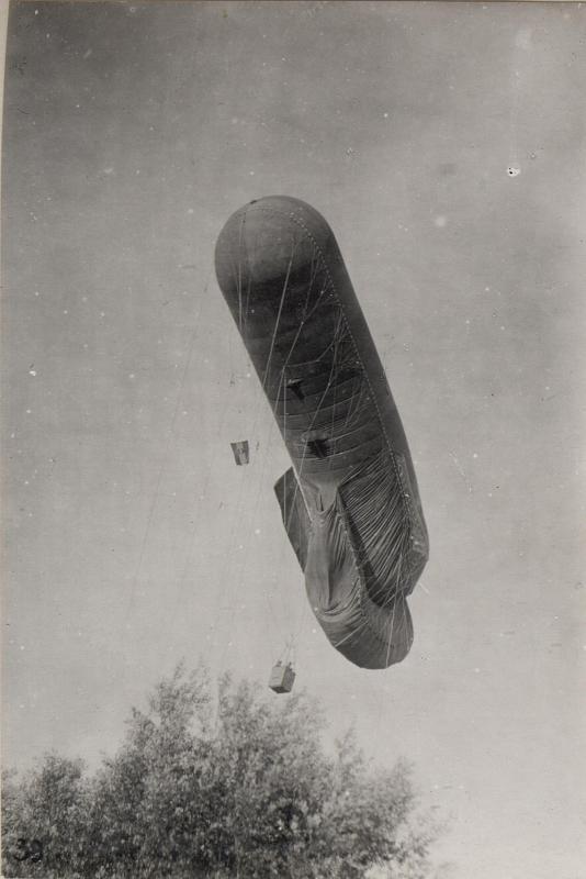 Fesselballon Aufstieg