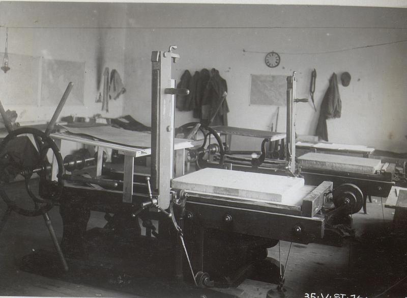 Presseraum der k.u.k.V.St.1/7 in Unterwikow 6.3.18.
