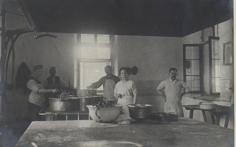 Küche des Feldspitales 1506.