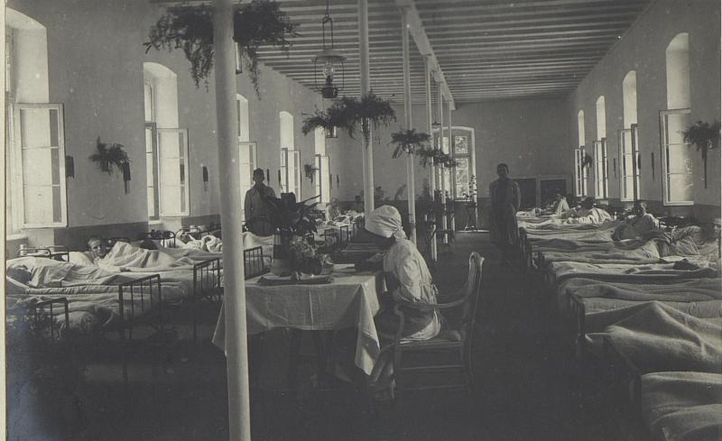 Typhus-Zimmer des Feldspitales 1506.