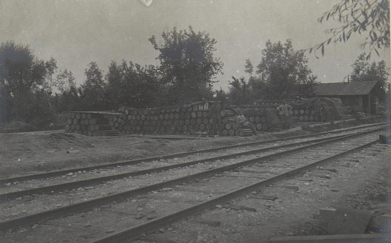 Armee-Mun.-Depot, Lager von 30.5 und 38cm Munition.