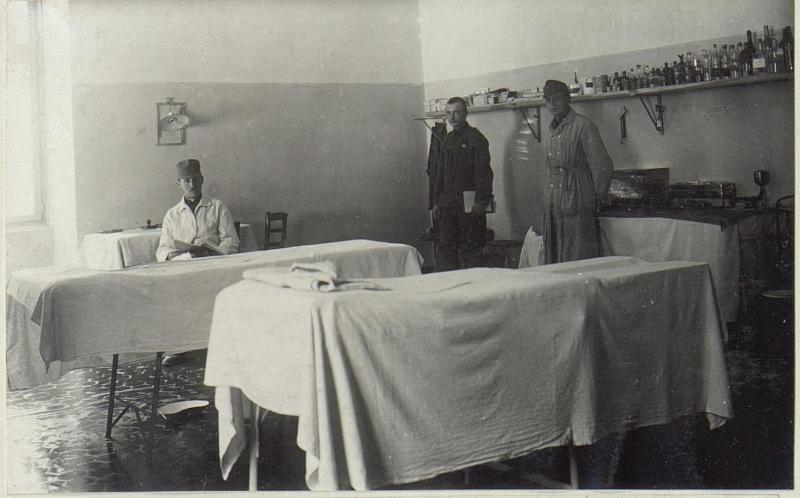 Operationssall des Feldspitales 1506, Seravallo.