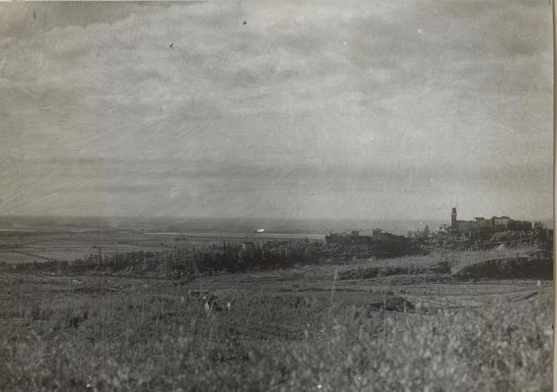 Belvedere Blick auf die Piave.