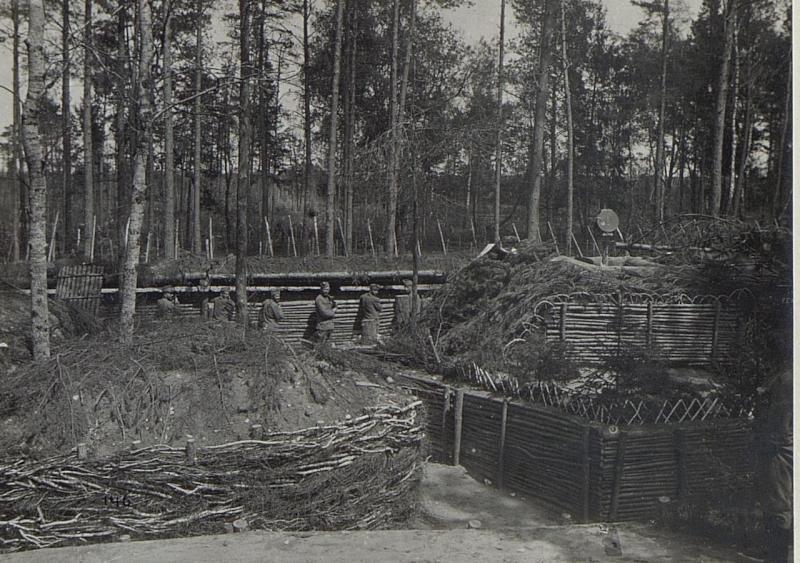 Mannschaftsunterstand hinter der 1.Linie östlich Galuzia (K.u.11.KTD.)