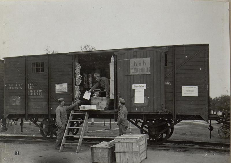 Feldbuchdruckerei-Zug in Kowel, Feldbuchhandlung.