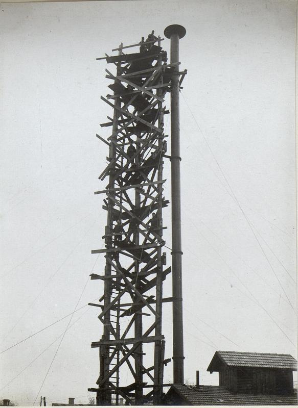 Abbildung technischer Einrichtungen am russischen Kriegsschauplatz