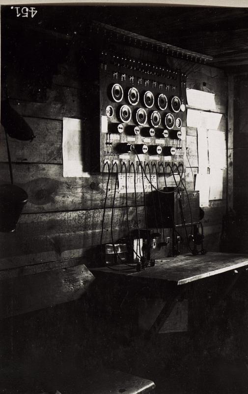 Telefonzentrale im Fuchsloch bei der 2.Infanteriedivison
