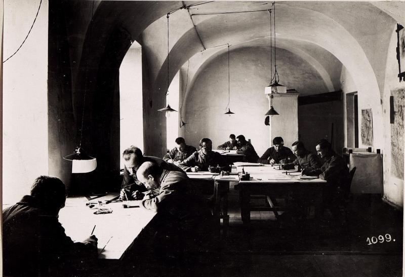 Wladimir Wolinsky: Zeichensaal der Kriegsvermessung Nr 4.