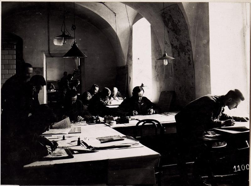 Wladimir Wolinsky: Zeichensaal der Kriegsvermessung Nr: 4.