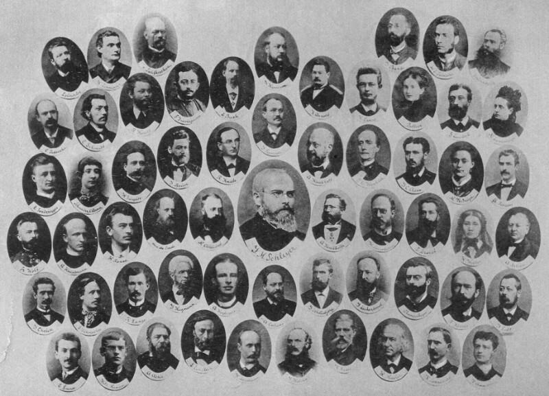 Mitglieder der Volapük-Akademie, um 1887