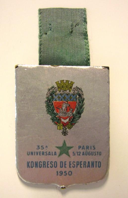 Abzeichen: 35a Universala Kongreso de Esperanto, Parizo 1950