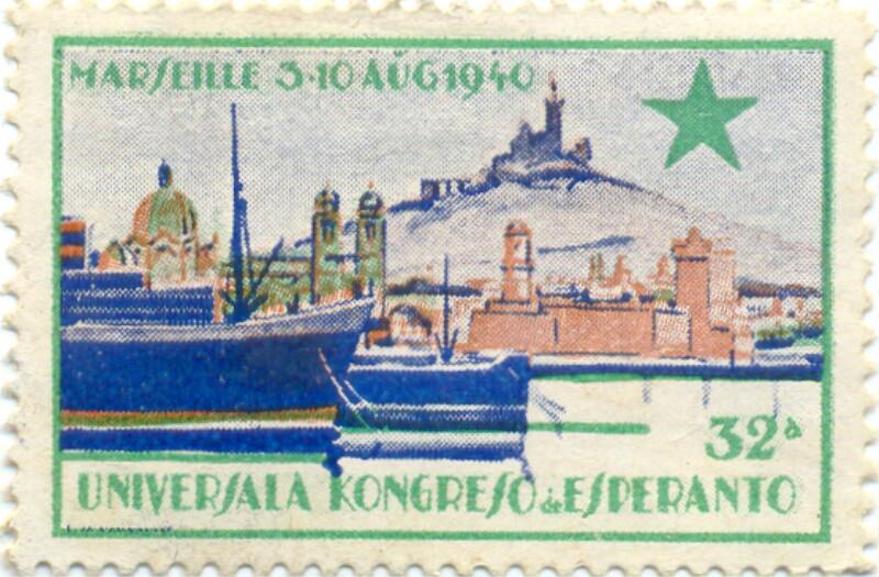 Verschlussmarke: Marseille, 3-10 aug. 1940, 32a Universala Kongreso de Esperanto