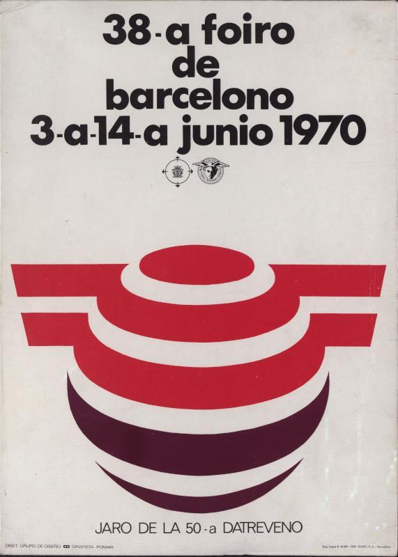 Aufsteller: 38. Foiro de Barcelono : 3a-14a junio 1970; jaro de la 50-a datreveno