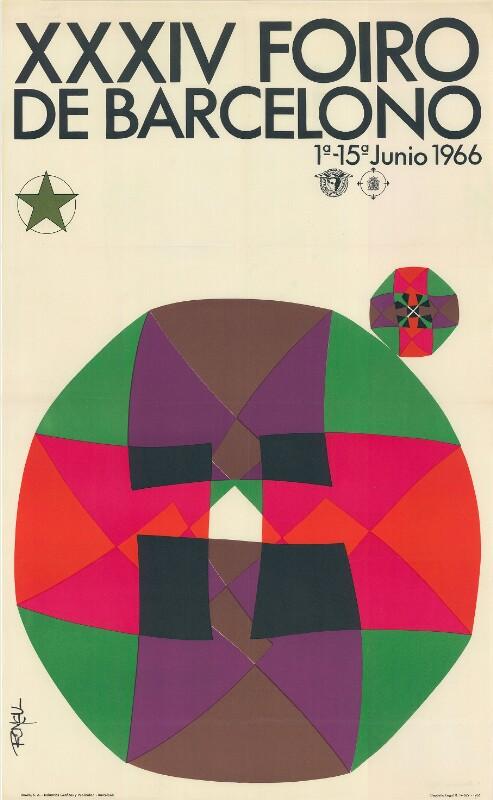Plakat: XXXIV. Foiro de Barcelona 1966