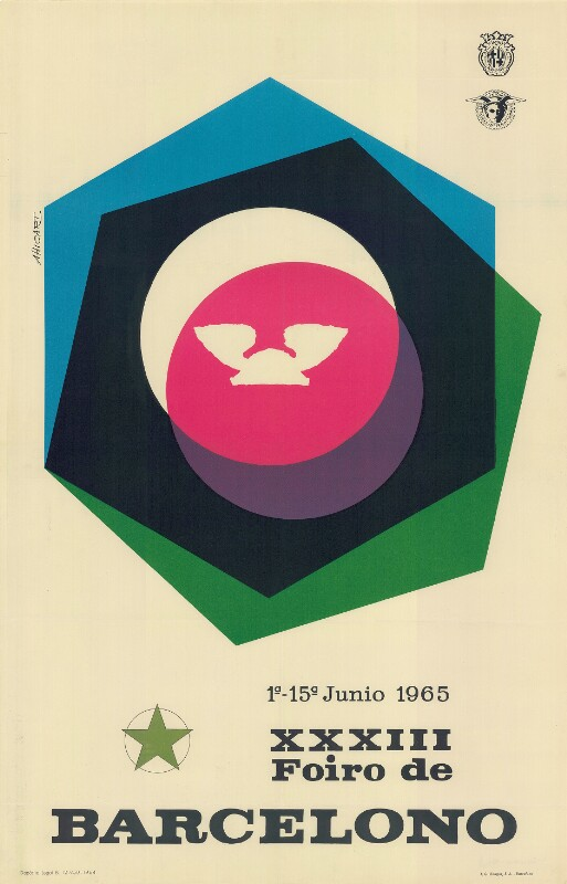 Plakat: XXXIII. Foiro de Barcelono : 1a - 15a junio 1965