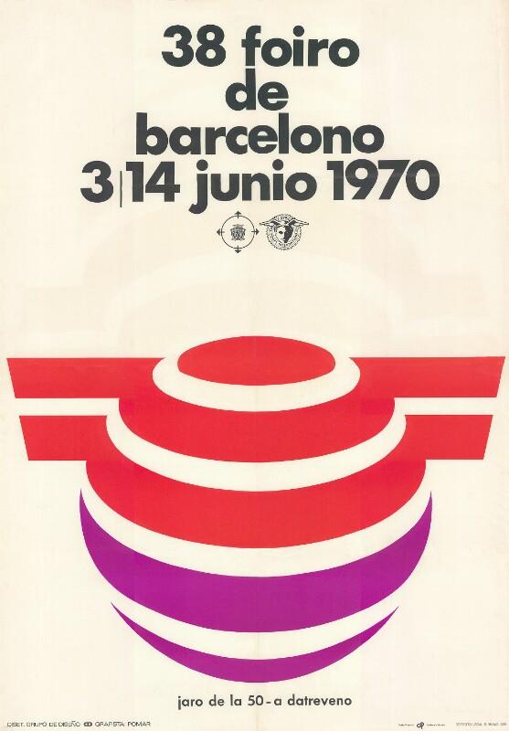 Plakat: 38. Foiro de Barcelono : 3a - 14a junio 1970; jaro de la 50-a datreveno