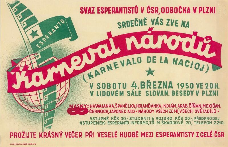 Plakat: Karneval národu : (Karnevalo de la nacioj)